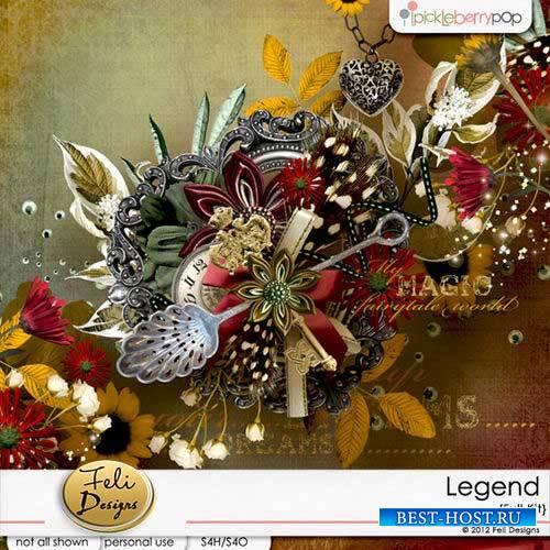 Яркий сказочный скрап-комплект - Легенда