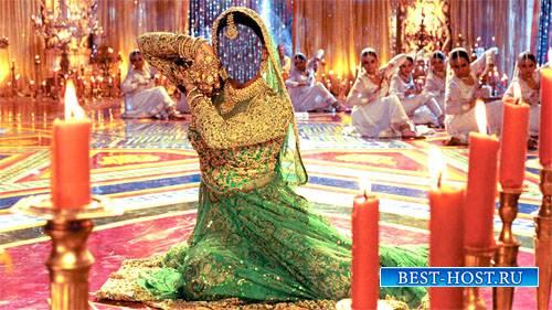 Шаблон psd женский - Танец в индийском платье