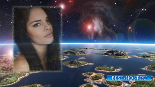 Фоторамка psd - Наша Земля