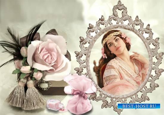 Рамка женская - Шкатулка с розой