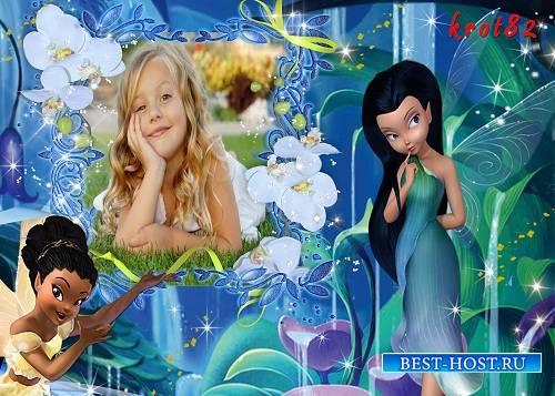 Фоторамка для девочки с феями — Магия фей
