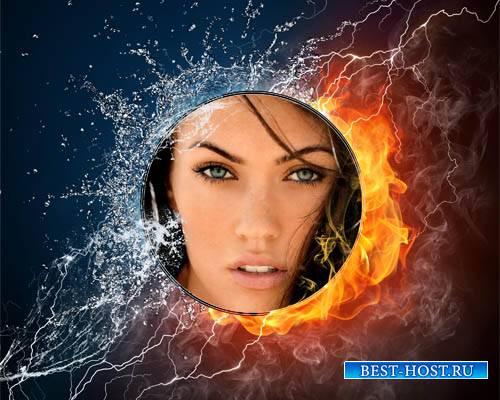 Рамка для фото - Вода и пламя
