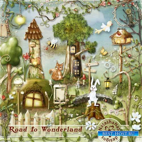 Детский сказочный скрап-комплект - Дорога в страну чудес
