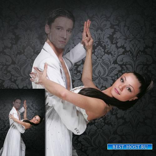 PSD шаблон для мужчин - Танцы с девушкой