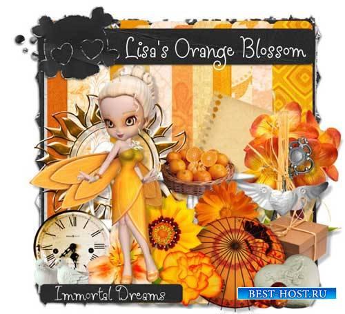 Очаровательный скрап-комплект - Оранжевое цветение