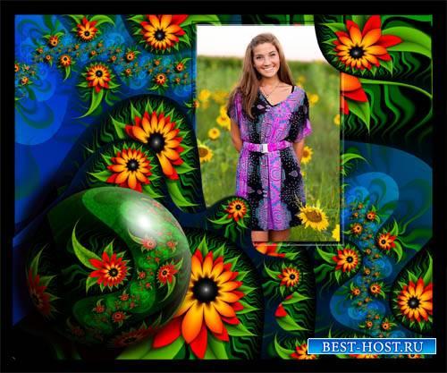 Рамка для фотографии - Яркие цветы