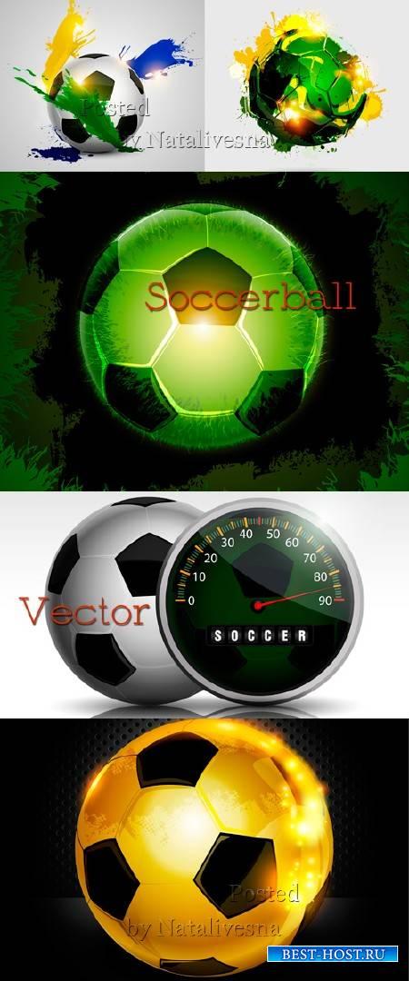 Футбольный мяч в Векторе