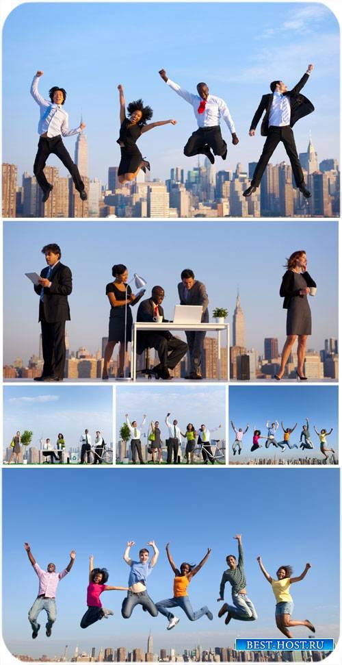 Бизнес команда, деловые люди / Business team, business people - Stock Photo