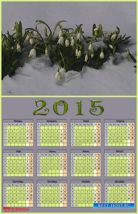Календарь на 2015 год – Снегурочкины слезы