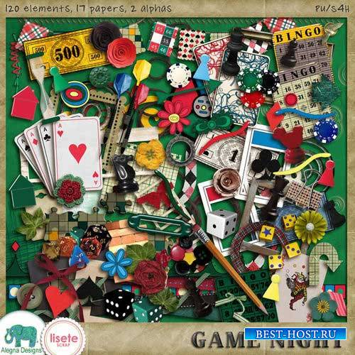 Азартный скрап-комплект - Ночная игра
