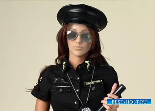 Шаблон для фотомонтажа - Полицейская