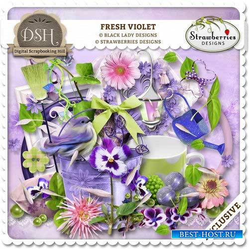Цветочный скрап-комплект - Свежие фиалки