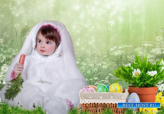 Шаблон  детский - Зайка к Пасхе