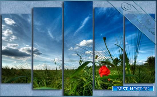 Psd исходник полиптих - Весенний день