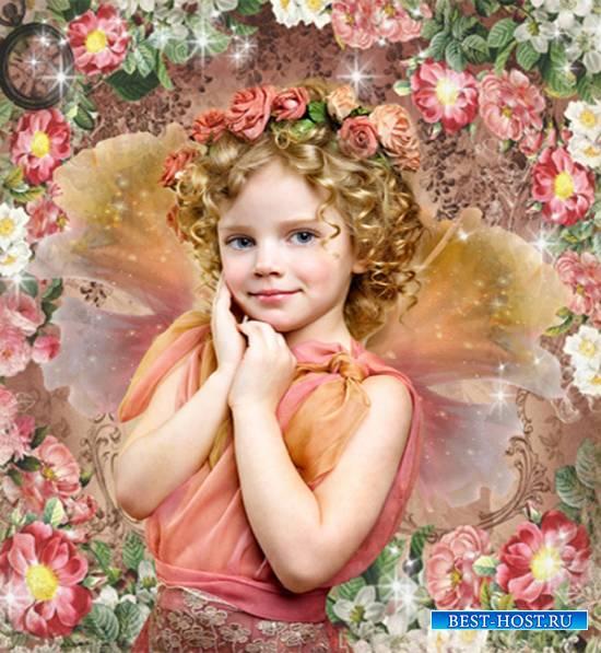 Шаблон  детский - Маленькая фея весны