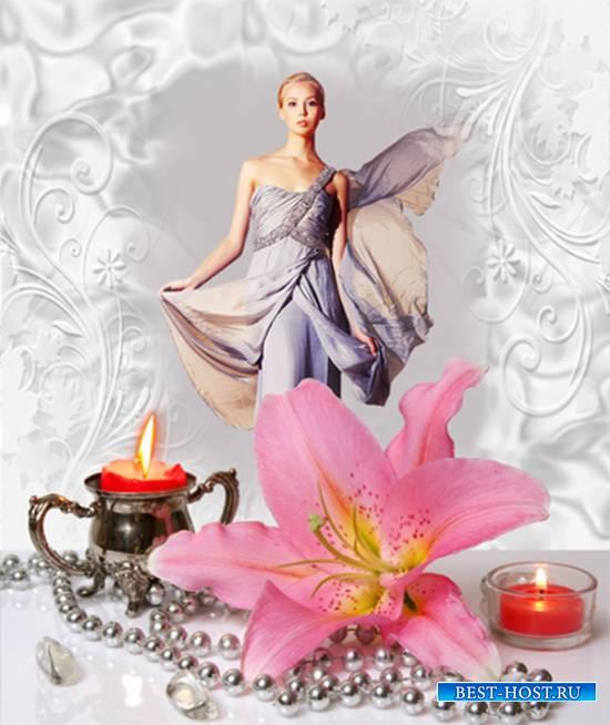 Рамка женская - Розовая лилия
