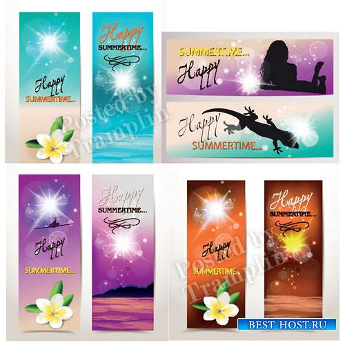 Летние векторные баннеры - Summer vector banners