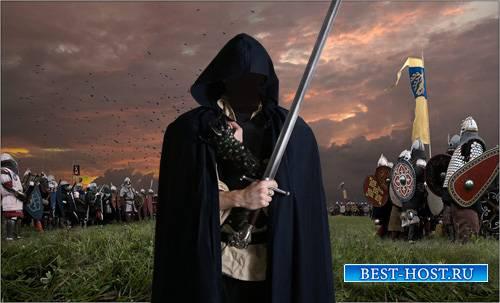 Мужской шаблон - Загадочный воин с оружием