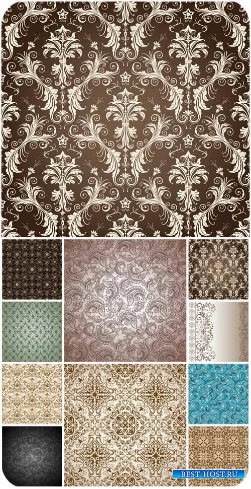 Фоны с узорами, вектор / Backgrounds with patterns, vector