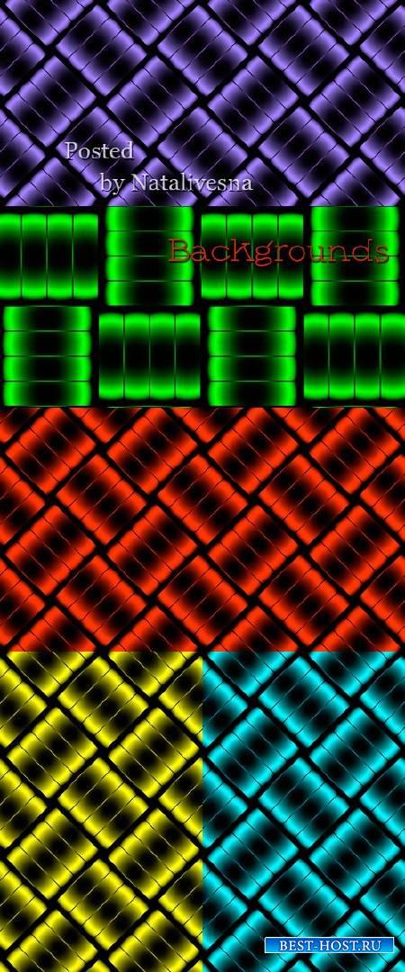 Абстрактные фоны в Векторе с яркими ромбиками
