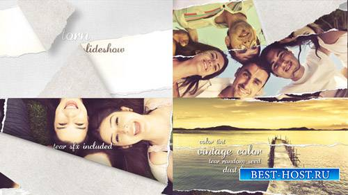 Torn Slideshow - Image/Video- Project for After Effects (Videohive)