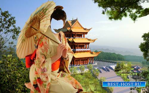Женский шаблон - Девушка в китайском наряде