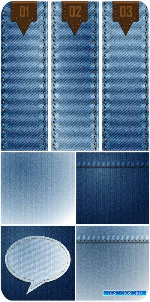 Джинсовые векторные фоны / Jeans, jeans vector backgrounds