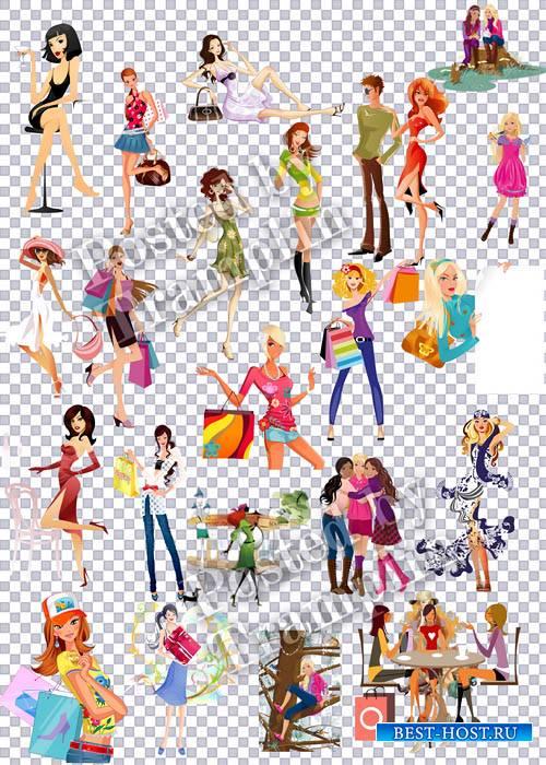 Сборник клипарта 2 – Девушки на прозрачном фоне