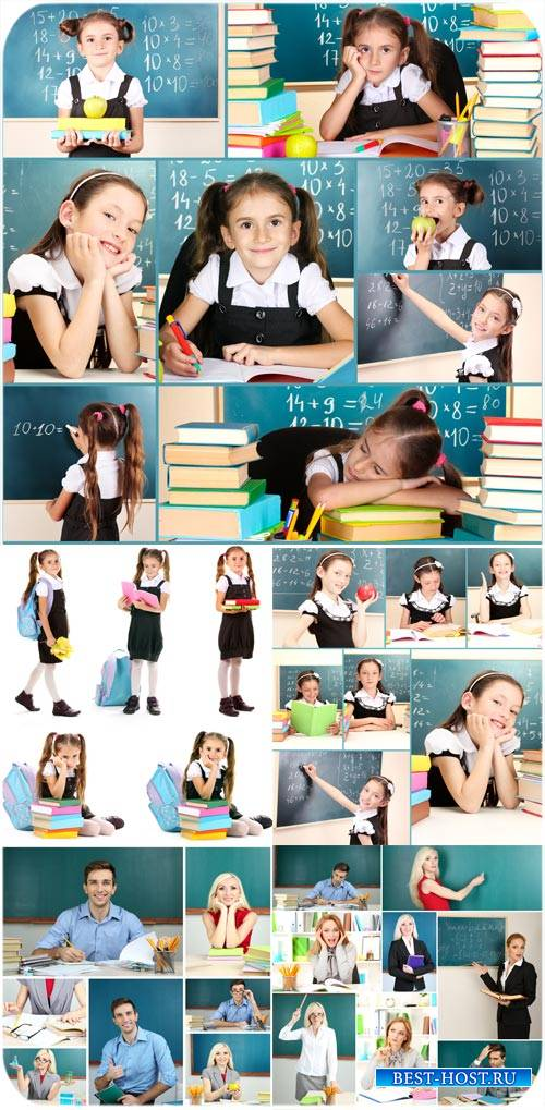 Учителя и ученики / Teachers and students - Stock Photo