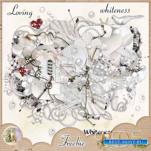 Романтический скрап-комплект - Loving whiteness