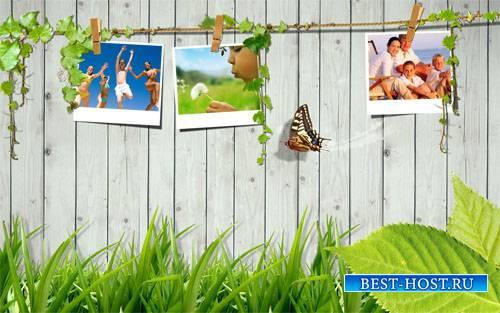 Рамка для фотошопа - Теплое лето