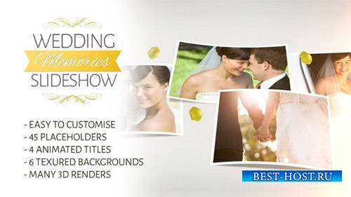 Wedding Memories Slideshow - Project for After Effects (Videohive)