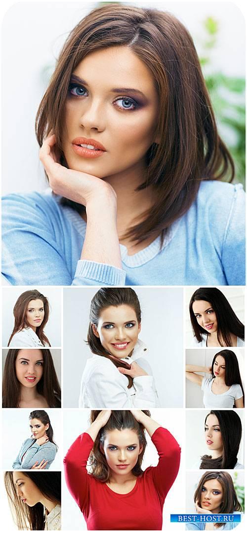Девушки, красивые женщины / Girl, beautiful woman - Stock Photo