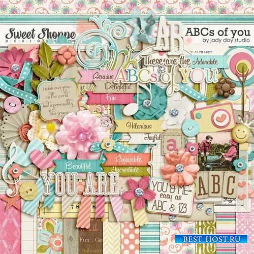 Прекрасный рукодельный скрап-комплект - The ABC's Of You