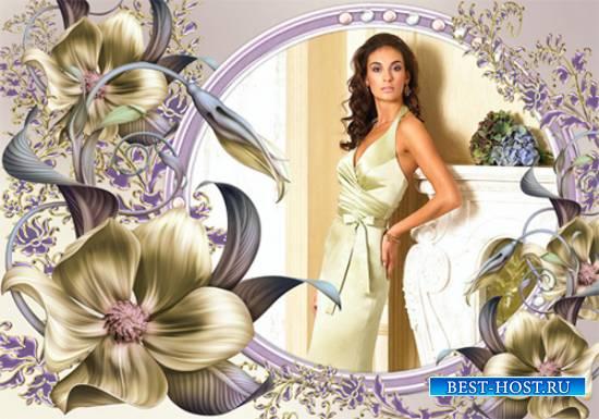 Рамка женская – Удивительные цветы