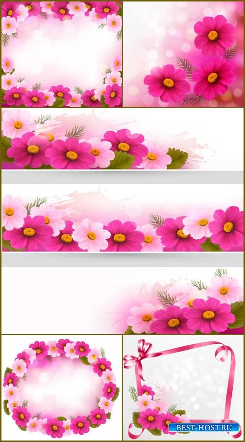 Праздничные фоны и банеры с цветами
