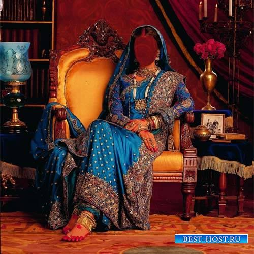 В индийском наряде - Женский шаблон