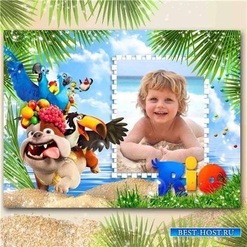 Морская рамка для детских фото - Рио