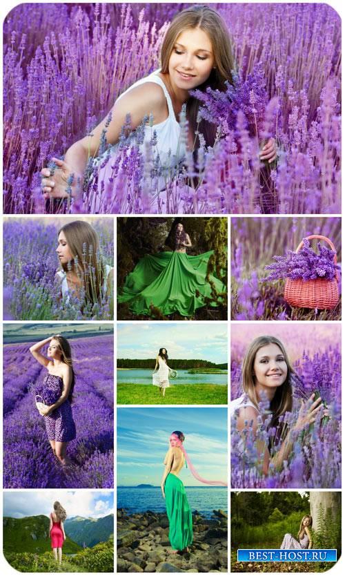 Девушки и природа / Girls and nature - Stock Photo