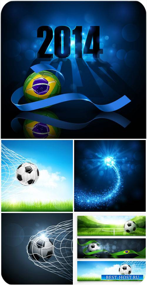 Футбол 2014, векторные фоны / Football 2014 vector backgrounds