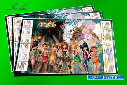 Красочный календарь-рамка с феями