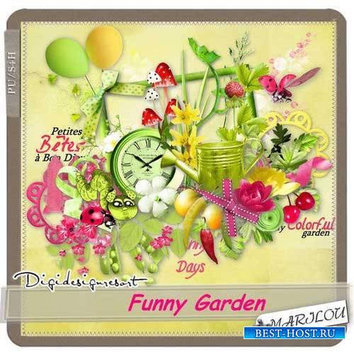 Летний скрап-комплект - Забавный сад