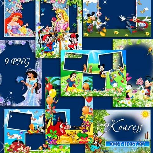 Детские фоторамки с героями мультиков Диснея - Вместе с верными друзьями