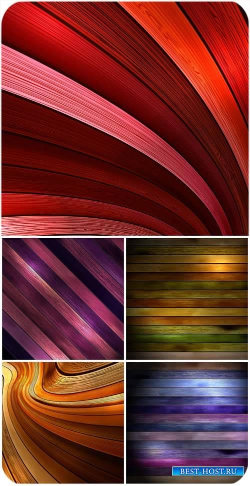 Цветные деревянные фоны в векторе / Colored wooden background vector