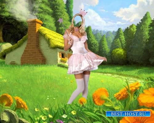 Шаблон женский - Фея на поляне сказок