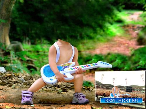 Шаблон psd - Маленький гитарист
