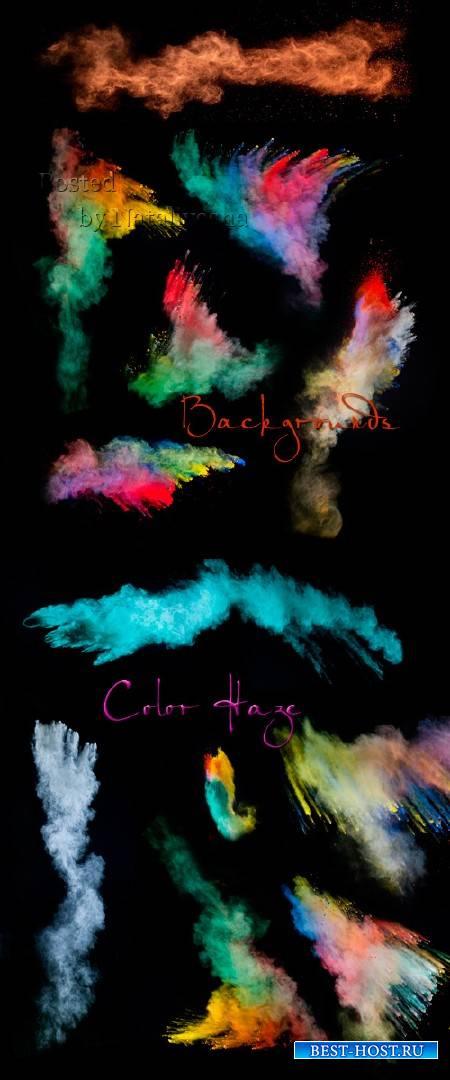 Декоративные фоны на черном фоне – Цветная дымка
