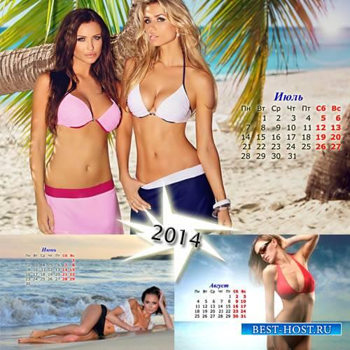 Календарь на лето 2014 - Горячие модели летом