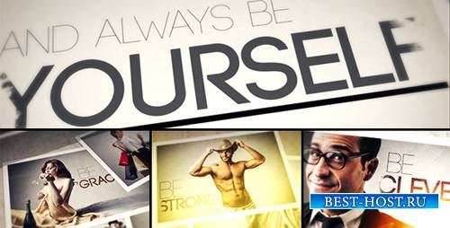 Always BE Yourself - Photo Gallery - Project for After Effects (Videohive)