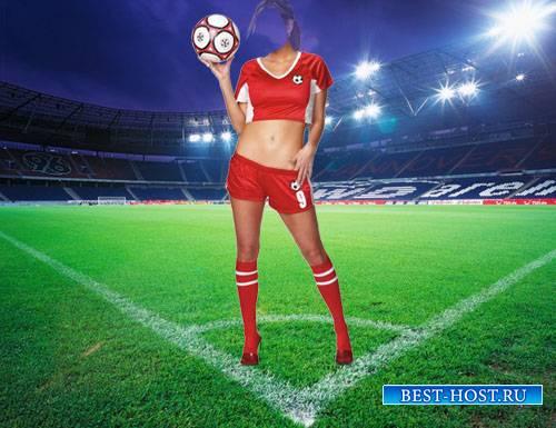 Футболистка в форме - Шаблон psd женский